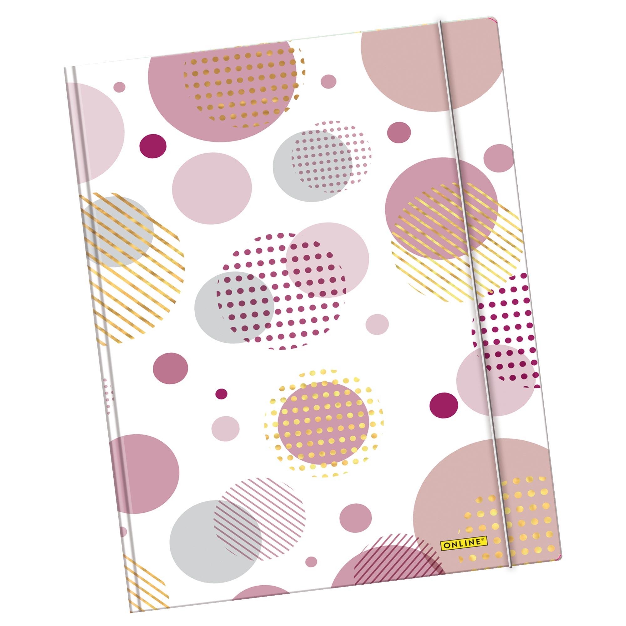 Elastic Folder A4 Shiny Bubbles