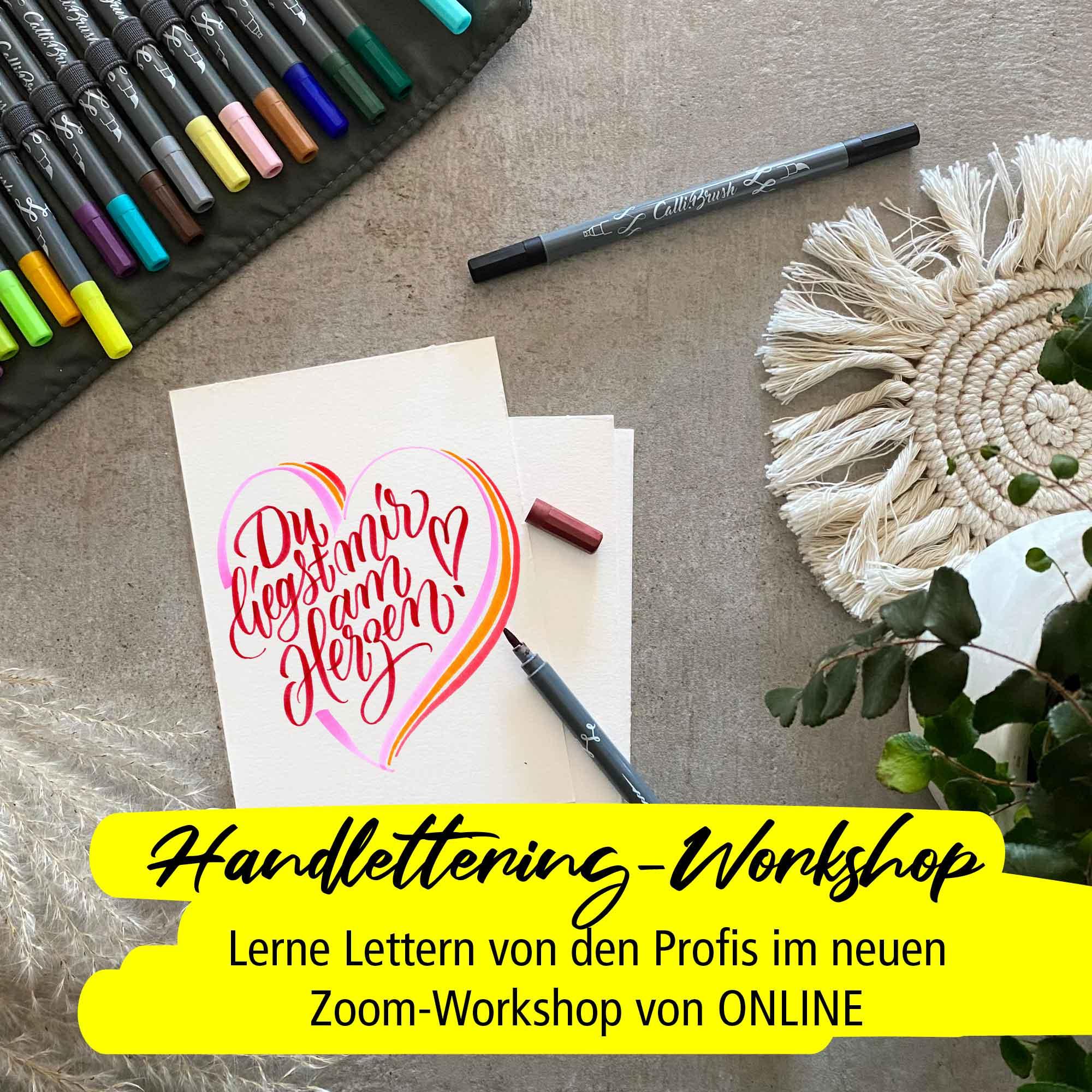 Handlettering-Workshop Einsteiger 17.03. inkl. Material-Paket