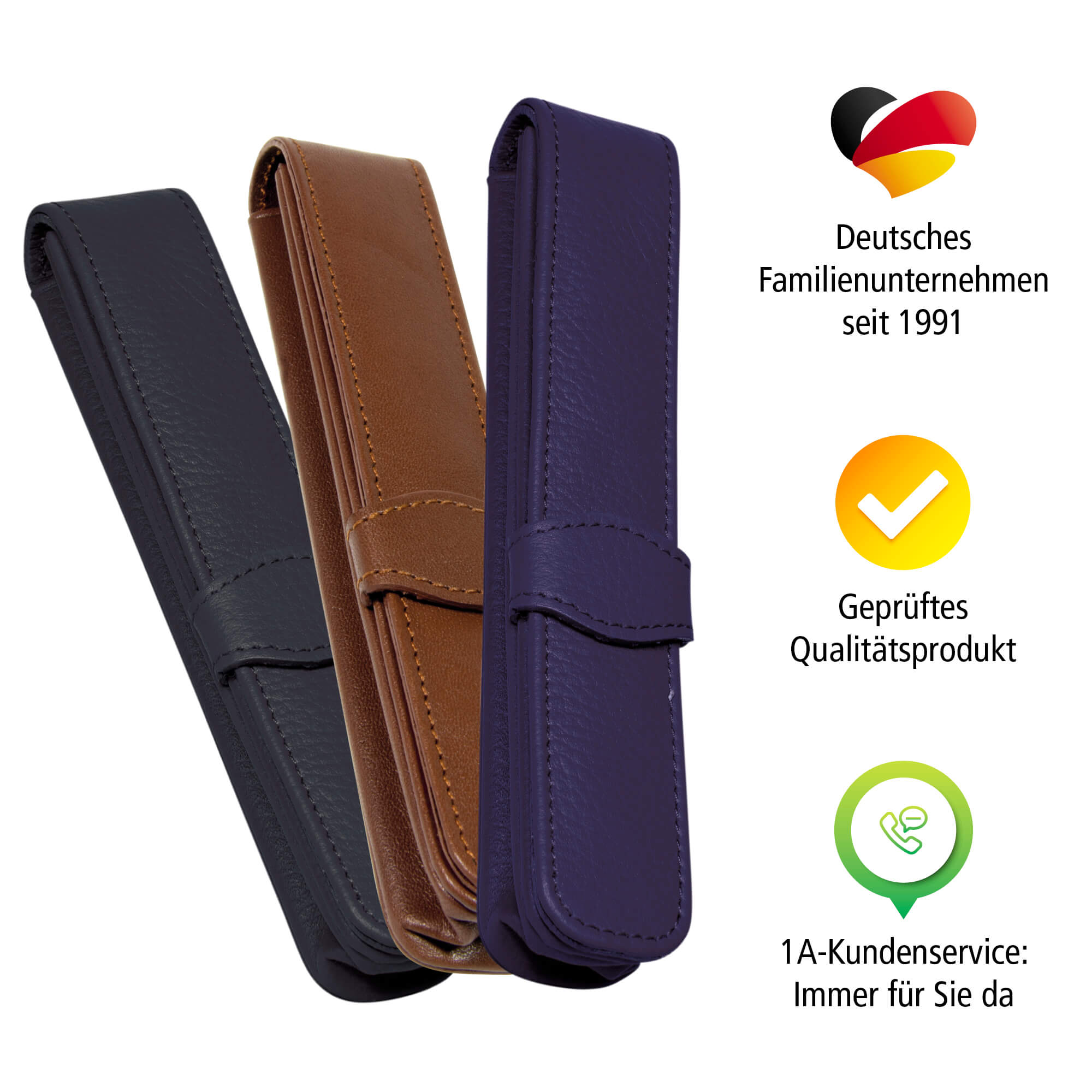 Leather Case Classic for 1 Pen