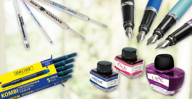 Zubehör für Füller, Tintenroller und Kugelschreiber